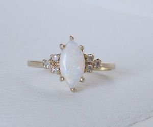 vintage, engagement ring, and opal ring image