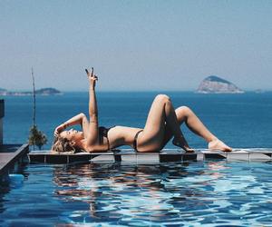bikini, blonde, and tata image
