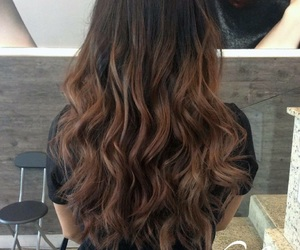 cafe, cabello, and hair image