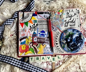 design, wanderlust, and journal image