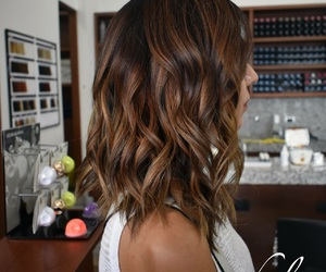 cafe, hair, and cabello image