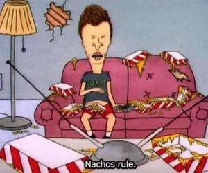 nachos, rules, and beavis and butthead image