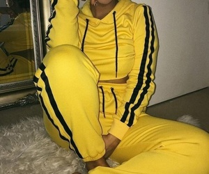 girl, outfit, and yellow image