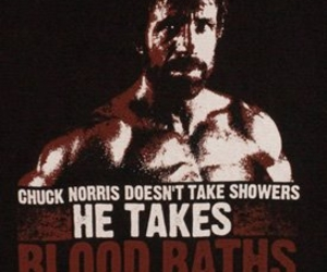 blood, shower, and chuck norris image