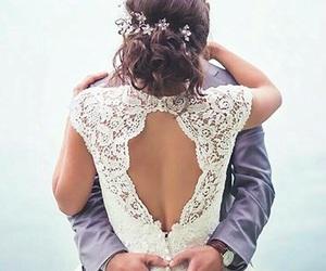 wedding, bride, and ceremony image