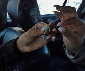 weed, nails, and blunt image
