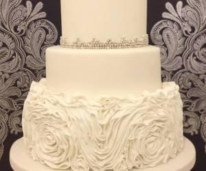 cake, flowers, and decor image
