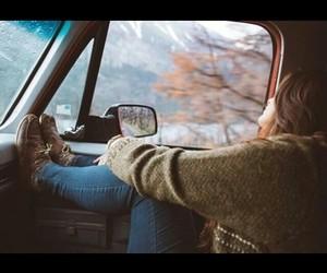 autumn, beautiful, and car image