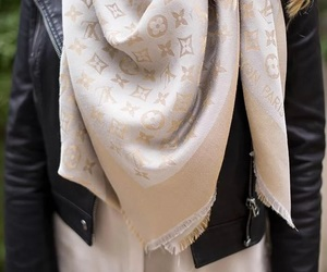 black, Louis Vuitton, and scarf image