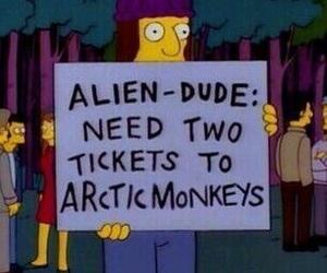 arctic monkeys, grunge, and simpsons image