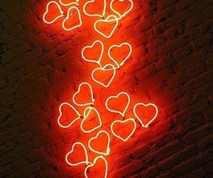 electric, heart, and hearts image