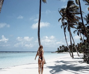 beach, Maldives, and travel image