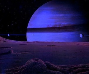 planet, space, and purple image