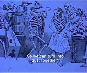 quotes, skeleton, and love image