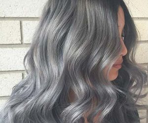 hair, hairstyles, and melting silver hair image