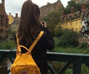 girl, tumblr, and yellow image
