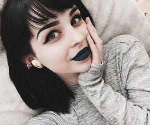 girl, dark, and beauty image
