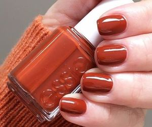 nails, autumn, and orange image