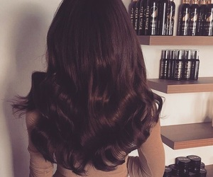 hair, style, and brown image