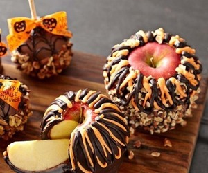 apple, chocolate, and food image