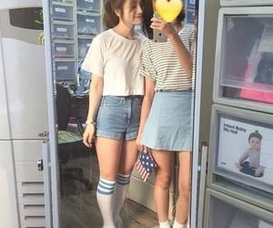 denim, korean, and fashion image