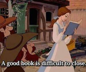 beauty and the beast, belle, and books image