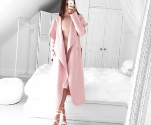 chic, style, and pink coat image