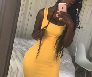 melanin, black women, and yellow image