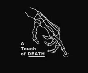 death, black, and skeleton image