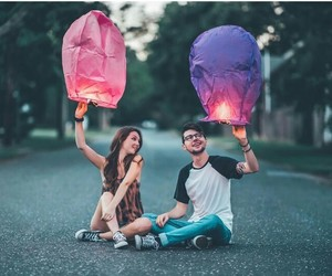 couple, photography, and pink image