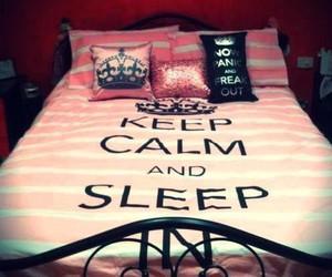 sleep, keep calm, and bed image