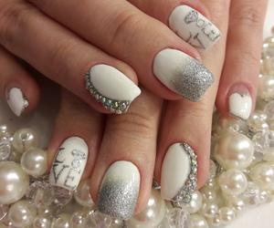 bride, nails, and pearls image