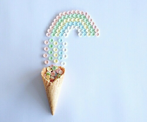 rainbow, candy, and pastel image