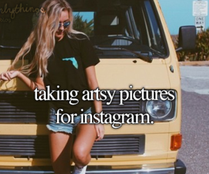 girl and instagram image