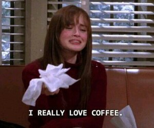 coffee, gilmore girls, and funny image