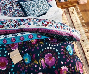 bed, colorful, and house image