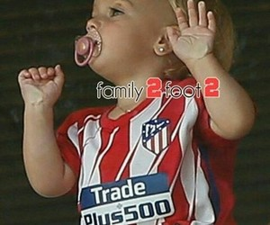baby, football, and atletico madrid image