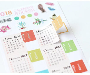 2018 diary, 2018 life planner, and monthly label image