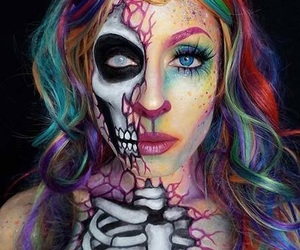 artist, skull, and calavera image