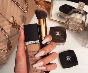 nails, makeup, and chanel image