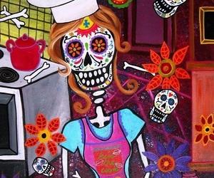 chef, dia de muertos, and ilustracion image
