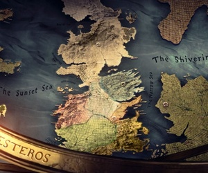 game of thrones, westeros, and map image