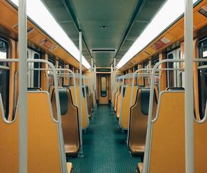yellow, subway, and train image