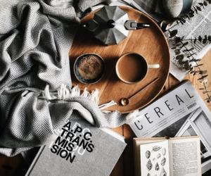 book, coffe, and magazine image
