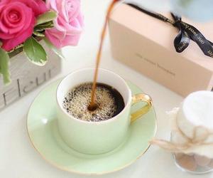 coffee, nice, and rose image