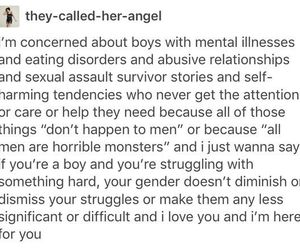 abuse, anxiety, and boys image
