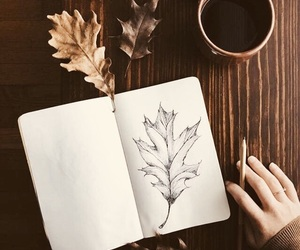 autumn, art, and coffee image