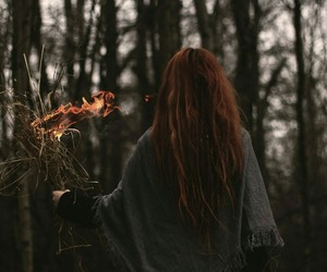 fire, girl, and aesthetic image