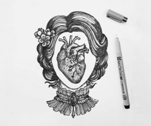 art, heart, and draw image