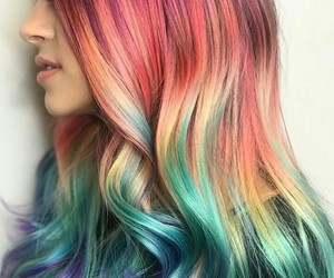 beauty, color, and hair image